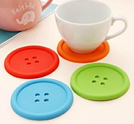 cheap -Contemporary Silicone Round Coaster Patterned Table Decorations
