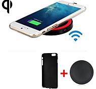 Недорогие -Ци стандарт беспроводной зарядное устройство приемник задняя крышка + беспроводной передатчик для iphone 6 / iphone 6s