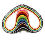 cheap -120PCS 3MMx53CM Quilling Paper(24 Color x5 PCS/Color) DIY Craft Art Decoration