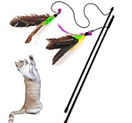 cheap -Cat Toy Pet Toys Teaser Feather Toy Bell Textile For Pets