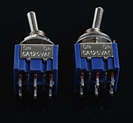 cheap -Double Toggle Switch 6 Feet 2 Files MTS-202(2Pcs)