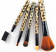 cheap -5 Makeup Brush Set Synthetic Hair Professional Plastic Face Mascara EyeShadow Highlighter Concealer Powder Foundation Lip