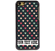 cheap -Personalized Case Lovely Heart Design Metal Case for iPhone 5C