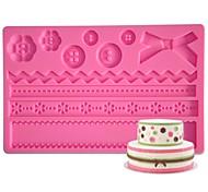 FOUR-C Кнопка силиконовая подкладка помады и gumpaste плесень, торт поставки помадные коврик инструменты сахарная паста коврик торт