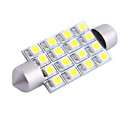 GC® 42mm 4W 200LM 6000K 16x3528 SMD White LED for Car Reading / License Plate / Door Lamp (DC12V)