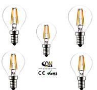 e14 светодиодные лампы накаливания g45 4 cob 400lm теплый белый 2800-3200k ac 220-240v