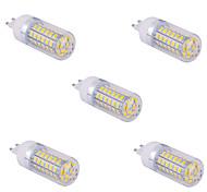 abordables -YWXLIGHT® 5pcs 1500 lm G9 Bombillas LED de Mazorca T 60 leds SMD 5730 Blanco Cálido Blanco Fresco AC 110V AC 220V