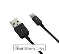 Недорогие -d&s MFI сертифицированный 8-контактный данных USB для синхронизации / зарядки кабель для Iphone 7 6s 6 плюс SE 5S 5 (120см)