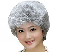 Foreign Trade Old Wig Sell Like Hot Cakes Silvery White Short Curly Wig