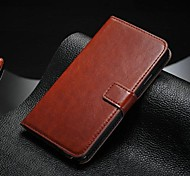 cheap -Case For Samsung Galaxy Samsung Galaxy Note Card Holder with Stand Flip Full Body Cases Solid Color PU Leather for Note 5 Note 4 Note 3