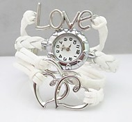 Fashion Handmade  Women's Watch Love Heart Infinity Leather Weave Band Cool Watches Unique Watches Strap Watch