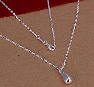 cheap -Women's Drop Sterling Silver Pendant Necklace  -  Fashion Silver Necklace For Wedding Party Daily