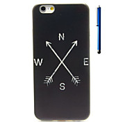 Arrow Pattern TPU Soft Case and Pen Back Cover for iPhone 6