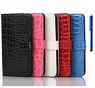 5.1 Inch Alligator Pattern PU Wallet Leather Case with Pen for Samsung GALAXY S6(Assorted Colors)
