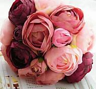 Свадебный букет невесты,10 шт Fushia