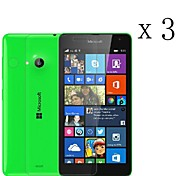 [3-Pack] High Transparency LCD Crystal Clear Screen Protector with Cleaning Cloth for Microsoft Lumia 535