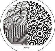 Nail Art Stamp Stamping Image Template Plate AP Series NO.21