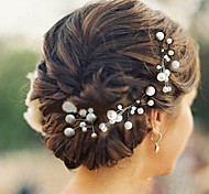 6pcs Pearl Wedding Headpieces Hairpins Classical Feminine Style