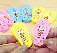 cheap -Cute Teddy Bear Slippers Eraser(Random Color)