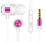 cheap -JTX JL-702 In Ear Wired Headphones Aluminum Alloy Mobile Phone Earphone with Microphone / Noise-isolating Headset