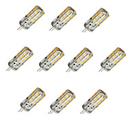 1.5W G4 LED Corn Lights T 24 SMD 2835 100 lm Warm White Cold White 2800-3000/6000-6500 K Dimmable DC 12 V 10pcs