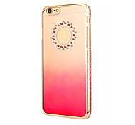 For iPhone 6 Case / iPhone 6 Plus Case Translucent Case Back Cover Case Playing with Apple Logo Hard PCiPhone 6s Plus/6 Plus / iPhone