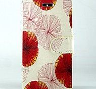 Red pink lotus leaf PU Leather Full Body Wallet Protective Case with Stand and Card Slot For Huawei Ascend Y550
