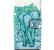 For Nokia Case Card Holder / Wallet / with Stand Case Full Body Case Elephant Hard PU Leather Nokia Nokia Lumia 830