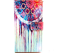 cheap -Case For Nokia Nokia Lumia 830 Nokia Case Card Holder Wallet with Stand Full Body Cases Dream Catcher Hard PU Leather for