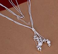 Недорогие -Женский Мода Ожерелья с подвесками Стерлинговое серебро Ожерелья с подвесками , Свадьба Для вечеринок Повседневные