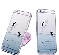 Недорогие -iphone 7 плюс мило прозрачная задняя крышка случая животное для iphone 5 / 5s