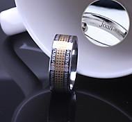 Недорогие -персональный подарок унисекс кольцо из нержавеющей стали выгравировано ювелирных изделий