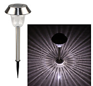 cheap -Stainless Steel 1-LED Whte Solar Lawn Light Pathway Garden Lamp