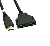 cheap -Gold Plated HDMI V 1.4 Male to Dual HDMI Female Adapter Splitter Cable