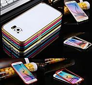 Недорогие -Для Кейс для  Samsung Galaxy Защита от удара Кейс для Бампер Кейс для Один цвет Металл Samsung S6