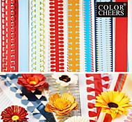 40pcs 51 centímetros multi-formatos quilling papel definido diferente da pétala da flor origami criativo diy-rolando de papel (conjunto 5pcsx8)