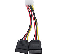 cheap -4 Pin IDE Molex to Dual 15 Pin Serial ATA SATA Hard Drive Power Adapter Cable