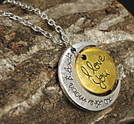 Women's Pendant Necklaces Alloy Heart Heart 1# 2# 3# 4# Jewelry Thank You Valentine