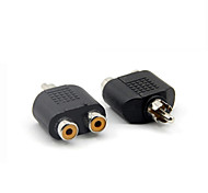 RCA Male to Dual RCA Female Jack Y Splitter Audio Adapter