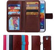 cheap -High-Grade Genuine Leather Mobile Phone Holster Full Body Case Shatter-Resistant Case for Samsung Galaxy S5 I9600