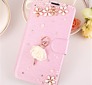 cheap -Case For Samsung Galaxy Samsung Galaxy Case Rhinestone with Stand Flip Magnetic Full Body Cases 3D Cartoon PU Leather for A7(2016)