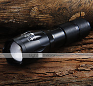 LED Flashlights LED Flashlights / Torch Handheld Flashlights/Torch LED 1600 lm 5 Mode Cree XM-L T6 Adjustable Focus Zoomable for