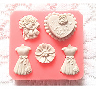 Bakeware Silicone Dress Baking Molds for Fondant Candy Chocolate Cake