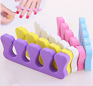 2PCS Peach Heart Cotton Toe Separators Nail Art Tool (Random Color)