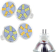 Faretti LED MR11 15 SMD 5730 400-500 lm Bianco caldo Luce fredda 2800-3500/6000-6500 K AC 12 V