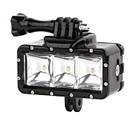 Suptig 30M 3-Modes LED Waterproof Video Fill Light Diving Lights Set for Gopro Hero4/3+/3/2 - Black