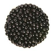 beadia 100г (приблизительно 1000шт) абс жемчуг 6 мм круглый черный цвет пластиковых свободные шарики для поделок решений ювелирного