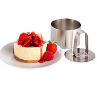 3''Mousse Tool Set of Round Mousse Ring with Push Handle Cheese Cake Mold Stainless Steel