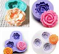 Набор из 4 формы для выпечки силиконовые формы помады торт украшение форма (случайный цвет)