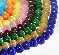 beadia 120pcs моды 6мм круглые стекла шарики глаза кота 9 цветов на выбор (случайный цвет)